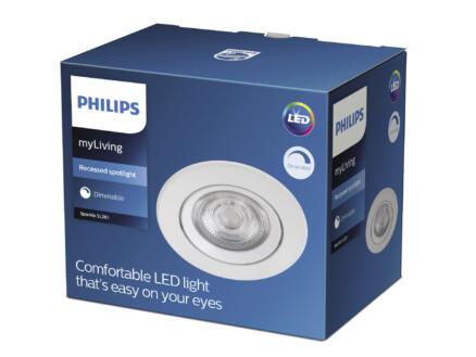 Philips Sparkle LED inbouwspot 5W dimbaar wit