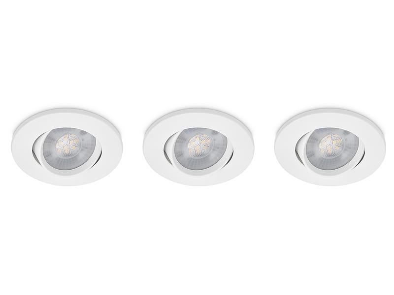 Prolight Spot LED encastrable 3W blanc 3 pieces