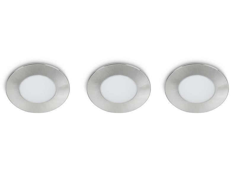 Prolight Spot LED encastrable 5W 3 pièces
