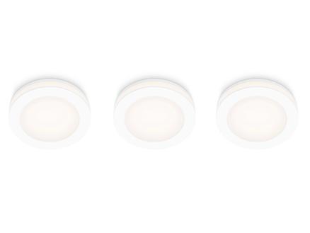 Prolight Spot LED encastrable 5W IP20 3 spots