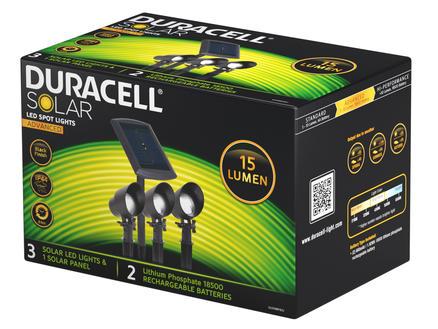 Duracell Spot LED extérieur à piquer solar 3 pièces