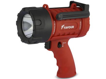 Spotlight lampe torche de chantier rouge