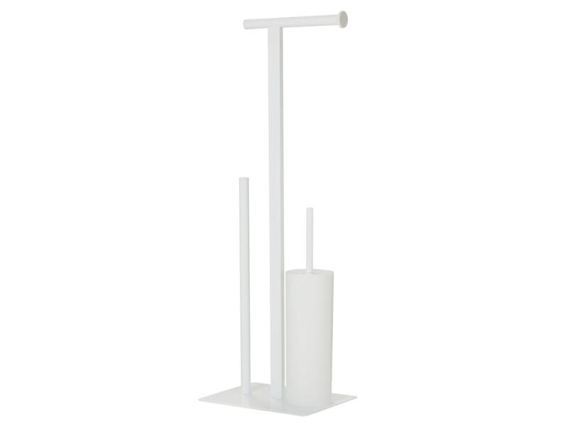 Sealskin Square set d'accessoires WC 3-en-1 blanc