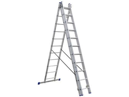 Escalo Stabilo II ladder met stabilisator 3x11 sporten