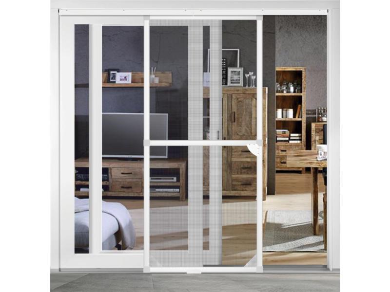 CanDo Standard porte moustiquaire coulissante 120x240 cm blanc