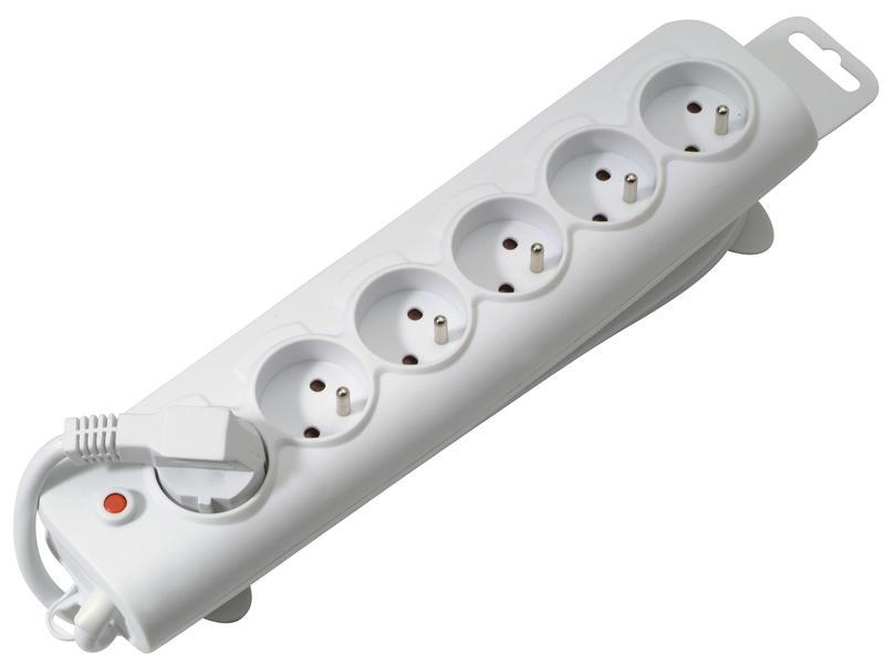 Profile Stekkerdoos 6x met kabel 1,5m wit
