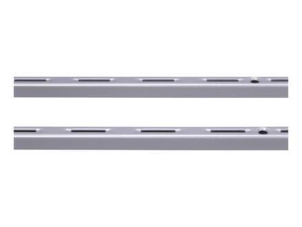 Stelijzer enkel 100cm aluminium 2 stuks