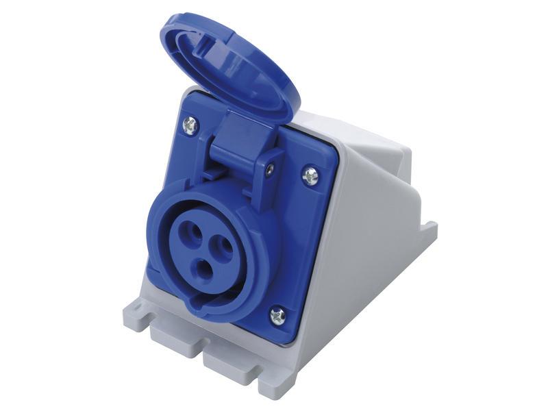 Stopcontact CEE 16A 3-polig blauw