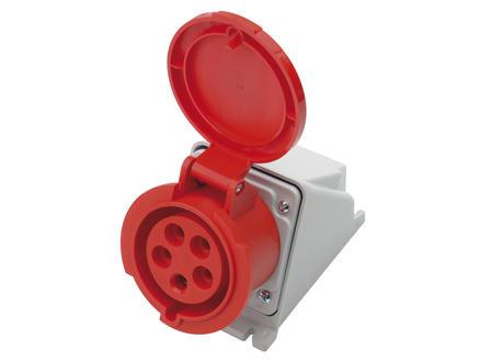 Stopcontact CEE 16A 5-polig rood