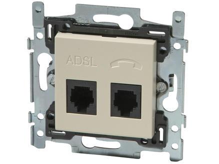 Niko Stopcontact TEL-ADSL Original cream