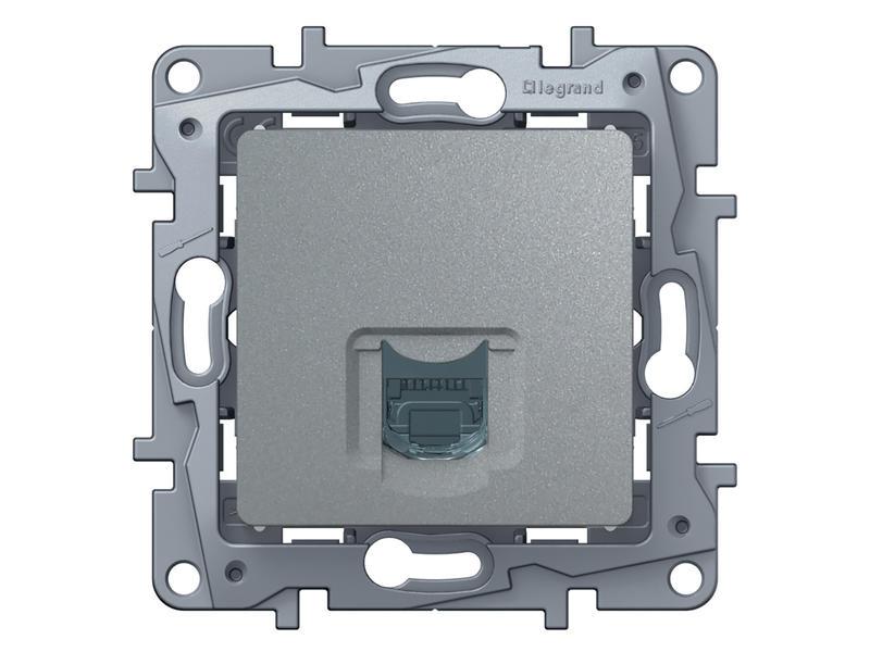 Legrand Stopontact Niloé TEL RJ11 aluminium