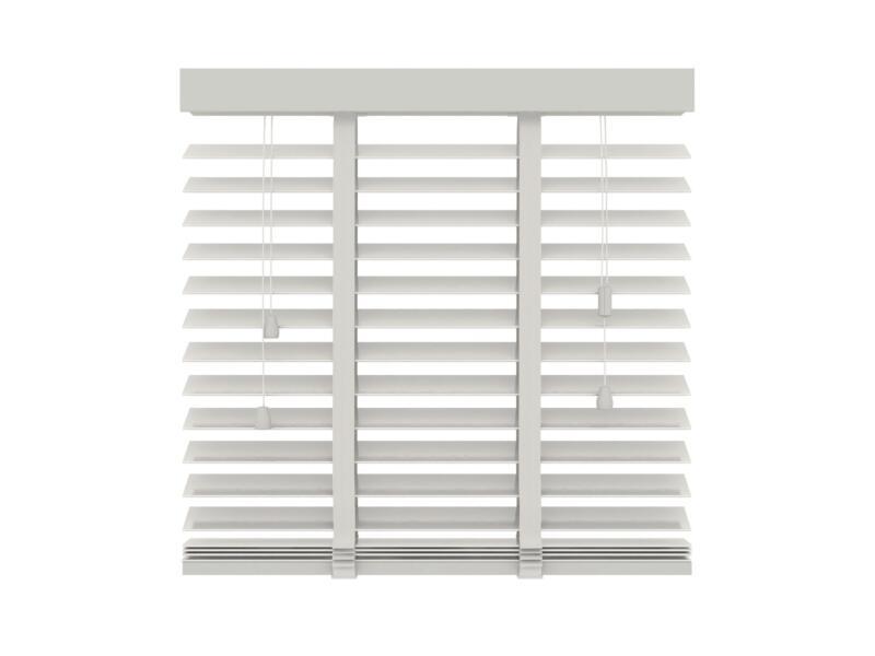 Decosol Store vénitien bois 50mm 120x180 cm 50mm blanc