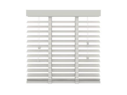 Decosol Store vénitien bois 50mm 80x180 cm 50mm blanc