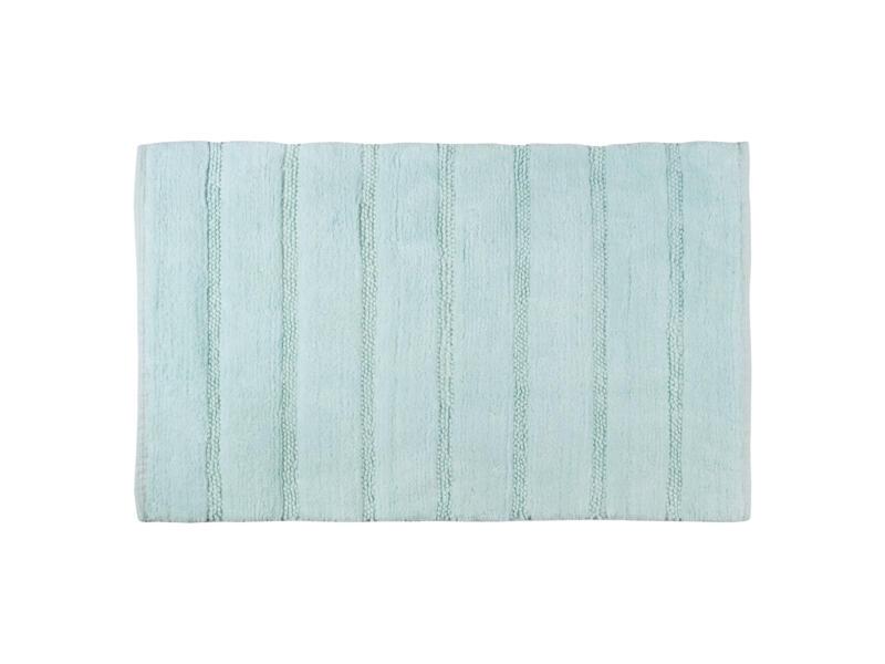 Differnz Stripes tapis de bain 75x45 cm bleu clair
