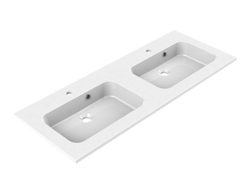 Allibert Style lavabo double encastrable 120cm polybéton