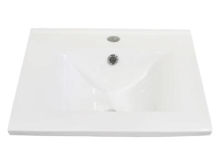 Style lavabo encastrable 60cm porcelaine