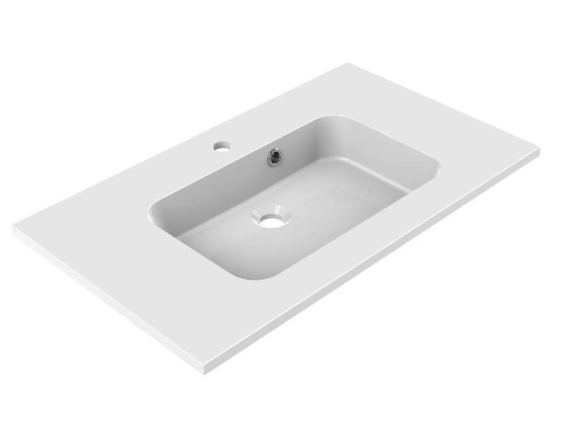 Allibert Style lavabo encastrable 80cm polybéton
