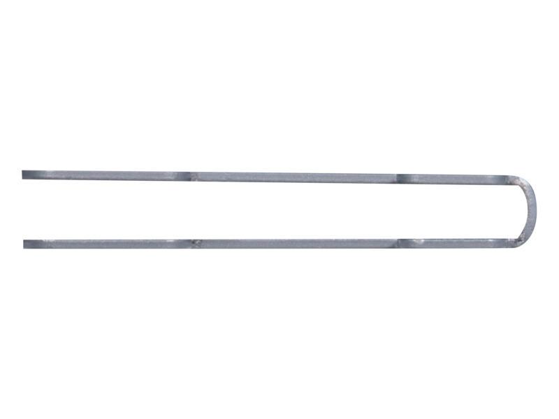 Support double 37cm aluminium