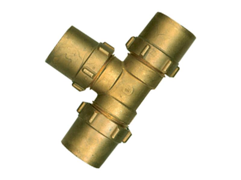 Saninstal T-knelkoppeling 22x22x22 mm gas
