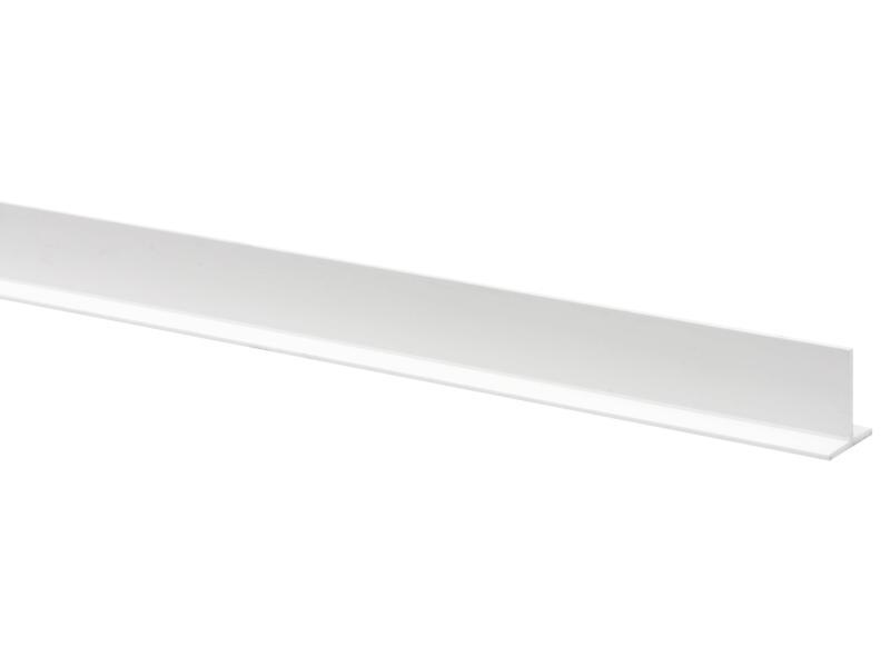 T-profiel 18x18 mm 260cm wit