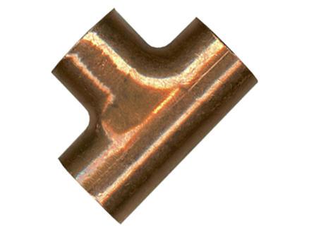Saninstal T-stuk 90° FFF 12mm koper