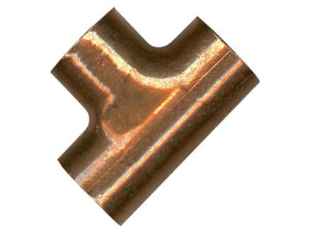 Saninstal T-stuk 90° FFF 15mm koper