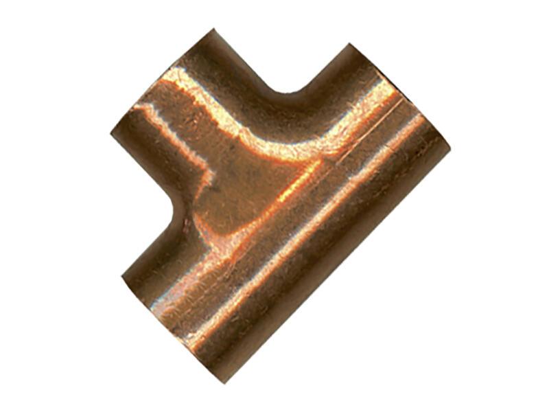 Saninstal T-stuk 90° FFF 15x12x15 mm koper