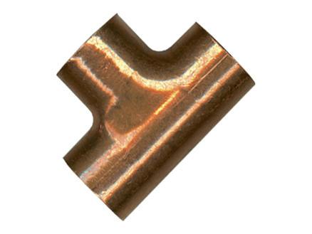 Saninstal T-stuk 90° FFF 22mm koper