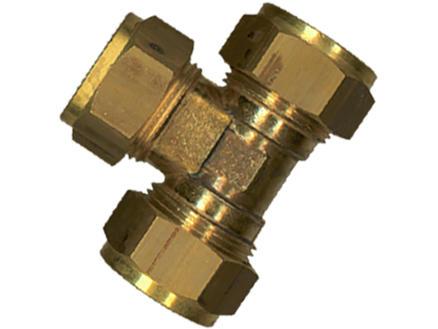 Saninstal T-stuk knelkoppeling 12mm messing