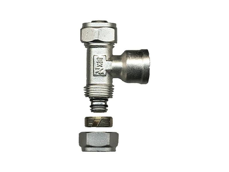 Saninstal T-stuk knelkoppeling 16mm x F 1/2