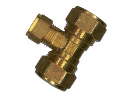 Saninstal T-stuk knelkoppeling 22x15x22 mm messing