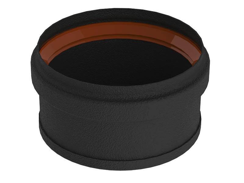 Saninstal Tampon pour poêle à pellet 80mm noir