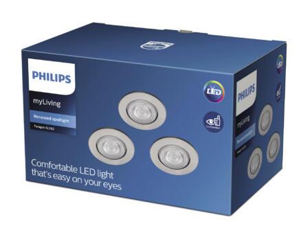 Philips Taragon LED inbouwspot 3x4,5 W nikkel grijs