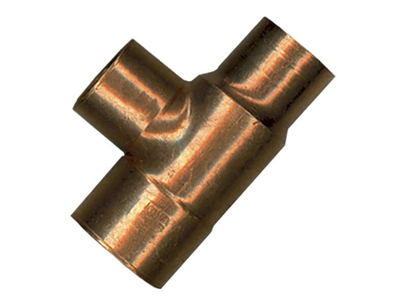 Saninstal Té 90° FFF 22x15x15 mm cuivre