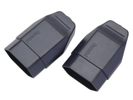 Tegenstekker 2,5A zwart 2 stuks