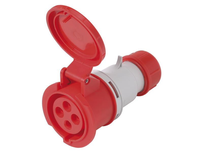 Tegenstekker CEE 16A 4-polig rood
