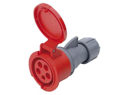 Profile Tegenstekker CEE 16A 5-polig rood