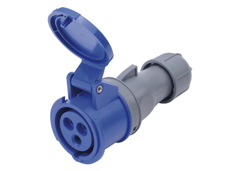 Tegenstekker CEE 32A 3-polig blauw