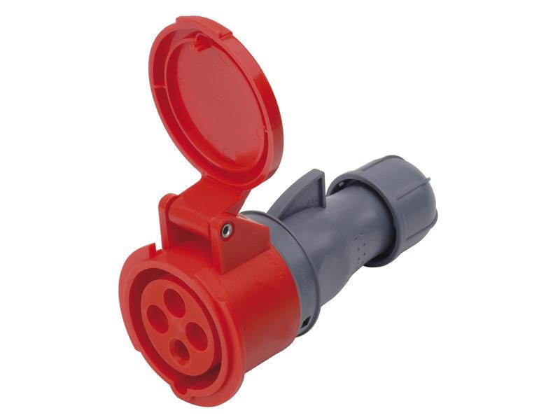 Tegenstekker CEE 32A 4-polig rood