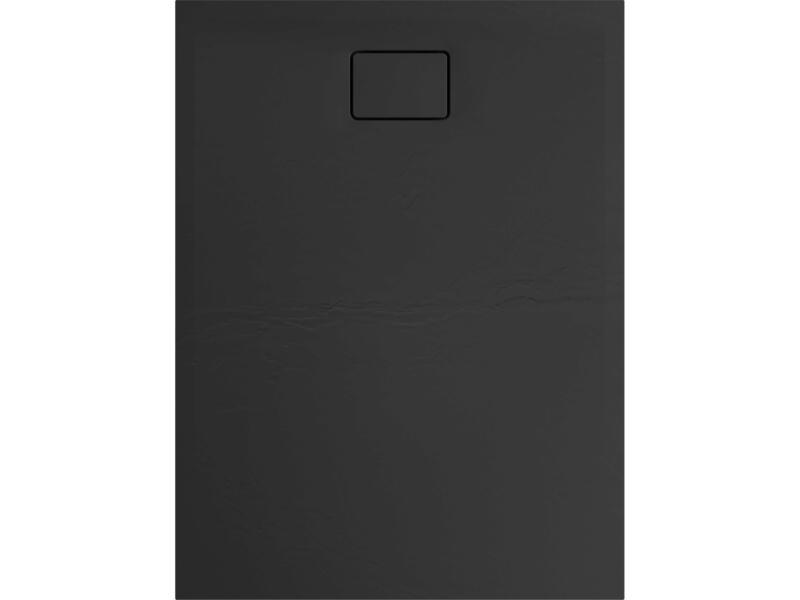 Allibert Terreno douchebak 120x90 cm polybeton basalt zwart