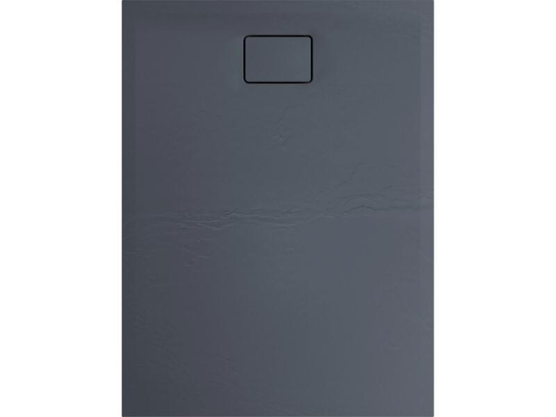 Allibert Terreno douchebak 120x90 cm polybeton grijs vuursteen