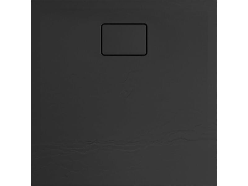 Allibert Terreno douchebak 80x80 cm polybeton basalt zwart