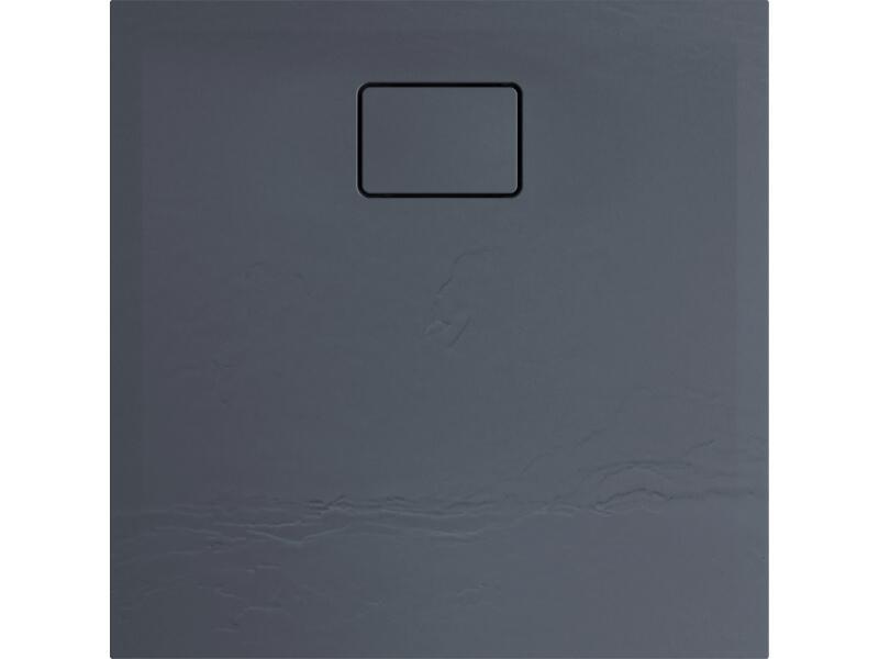 Allibert Terreno douchebak 80x80 cm polybeton grijs vuursteen
