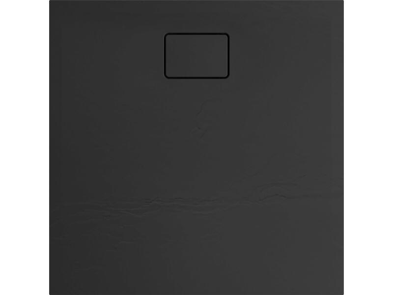 Allibert Terreno douchebak 90x90 cm polybeton basalt zwart