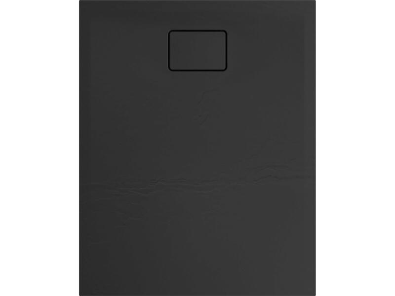 Allibert Terreno receveur de douche 100x80 cm polybéton noir basalte