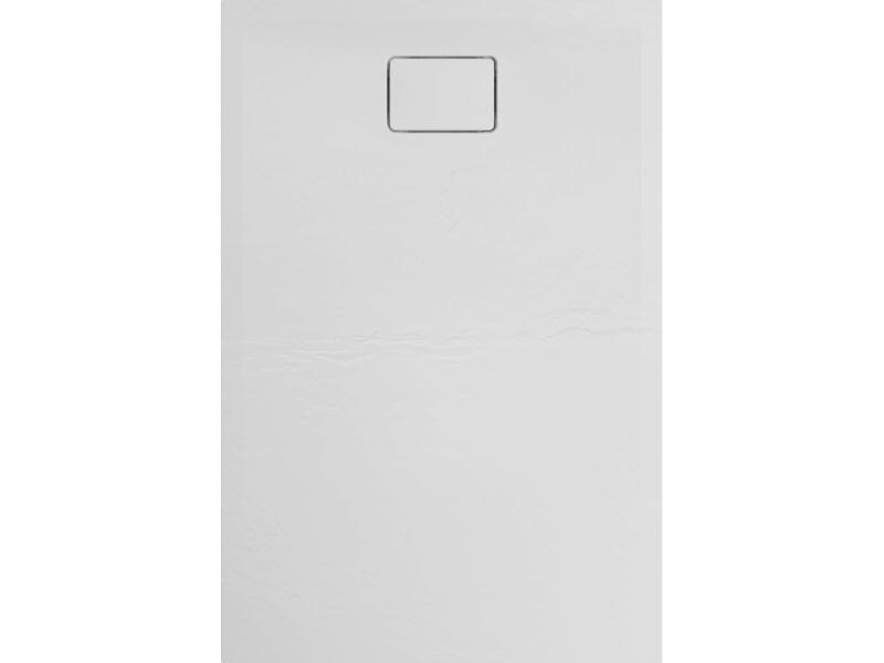 Allibert Terreno receveur de douche 120x80 cm polybéton blanc quartz