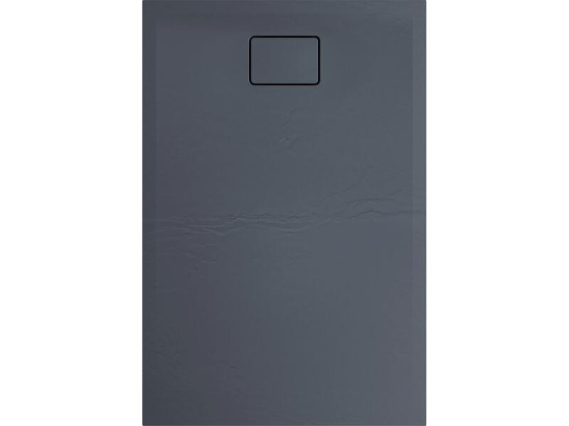 Allibert Terreno receveur de douche 120x80 cm polybéton gris silex