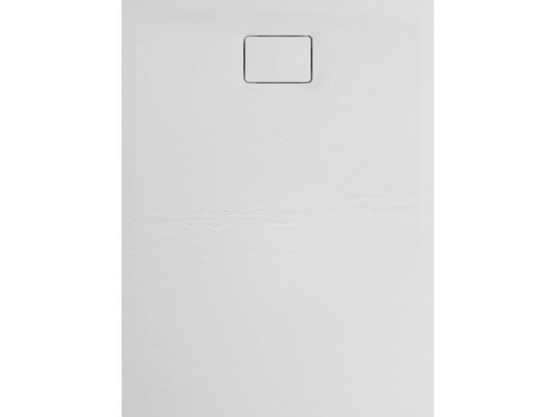 Allibert Terreno receveur de douche 120x90 cm polybéton blanc quartz