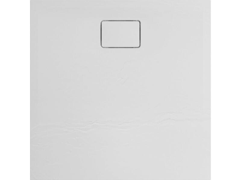 Allibert Terreno receveur de douche 90x90 cm polybéton blanc quartz