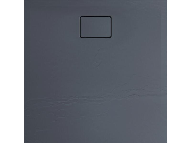 Allibert Terreno receveur de douche 90x90 cm polybéton gris silex